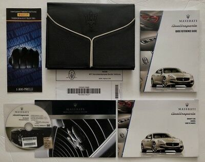 2014 Maserati Quattroporte S GTS Owners & Navigation Manual Set +DVD Manual Disc