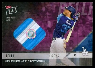 869d54f8c 2018 Topps Now Players Weekend Cody Bellinger Game Used Jersey Relic Card  16 25