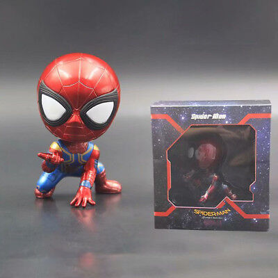 THE Avengers spider man shake head pvc figure collection anime toy new