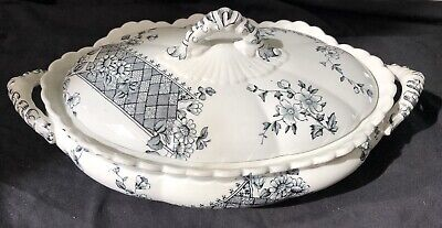 Antique K &co Late Mayers 1790 Vegetable Tureen 23 Cmx13 Cmx13 Cm Approx Ex Cond
