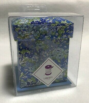 Liberty of London Victorian Sewing Box - Blue & Green Floral