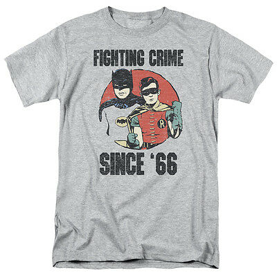 Batman Fighting Crime Since 66 Licensed 60s TV Show Series Adult T-Shirt