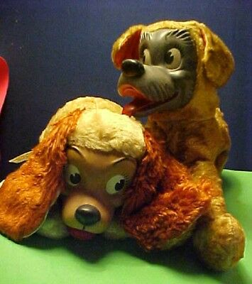 Disney Vintage Plush Lady & Tramp from Lady and The Tramp