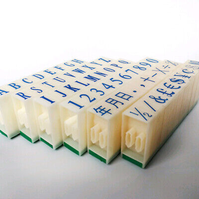 3-Types English Alphabet Letters Numbers Rubber Stamp Free Combination DIY Craft