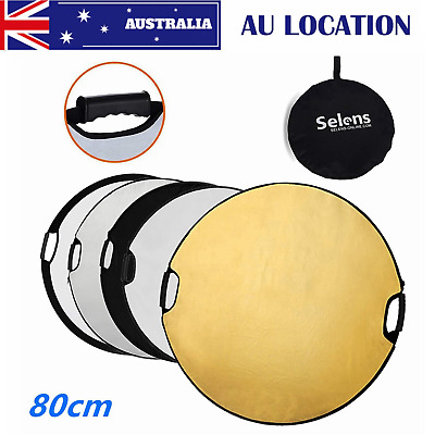 "32"" 80cm 5 in 1 Photography Light Mulit Collapsible Disc Reflector with Handle"