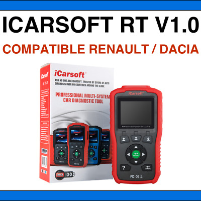 iCarsoft RT V1.0 - Valise Diag PRO OBD2 pour Renault + Dacia SNOOPER DS150