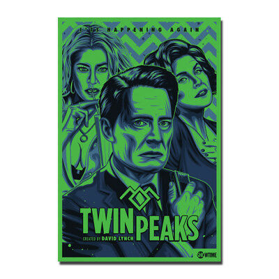 Twin Peaks US Hot New 2017 TV Series Show Vintage Silk Poster 13x18 24x32 inch