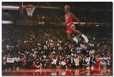 36x24 40 Inch G188 MICHAEL JORDAN Dunk From The Foul Line Poster Silk Decoration