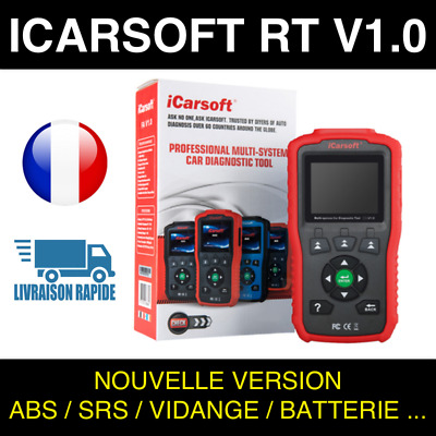 ✅ VALISE DIAGNOSTIC ICARSOFT RT V1.0 - Compatible Renault & Dacia - Français