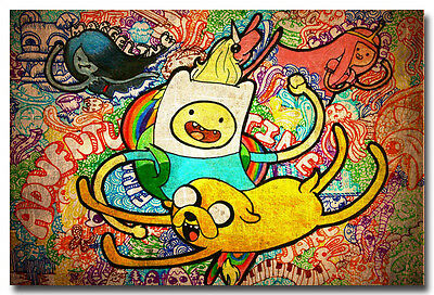 Adventure Time Finn/&Jake Comic Art Silk Poster Pictures 13x24 24x43 inch 001