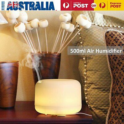 500mL Essential Air Mist Oil Aroma Diffuser Ultrasonic Humidifier Aromatherapy L
