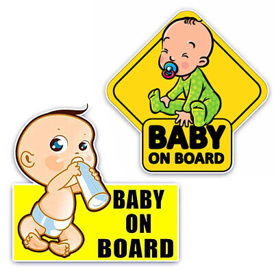 Baby On Board Car Body Windshield Reflective Sticker Warning Sign Decor Special