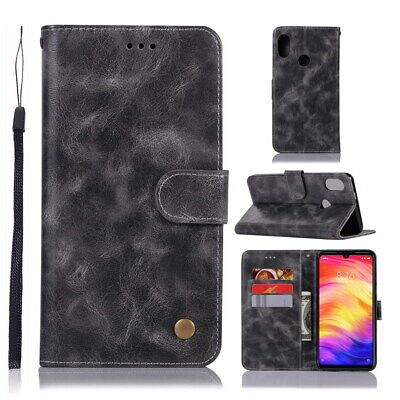For 6.26'' Xiaomi Redmi 7 Flip Stand PU Leather Wallet Phone Cover Case Skin