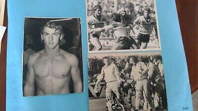 3 x Rugby League Press Photos. Steve Rogers Cronulla 1973, 1975, 1985