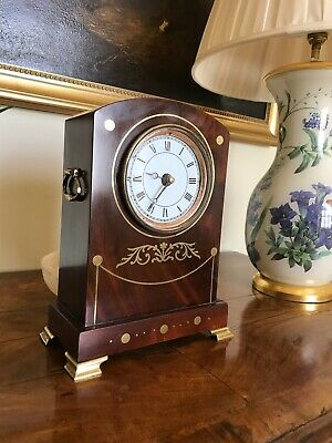 Antique Bracket Clock Case Fitted with Quartz Movement