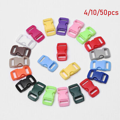 4/10/50pcs Side Release Buckle Dog Collar Strap Camp Bag Parts Webbing Outdoor