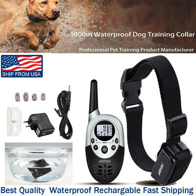 1000 Yard Dog Shock Collar Wiz Remote Waterproof Electric For Large Pet Train VP