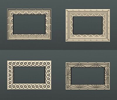 3d STL models for CNC, Artcam, Aspire, relief  frame