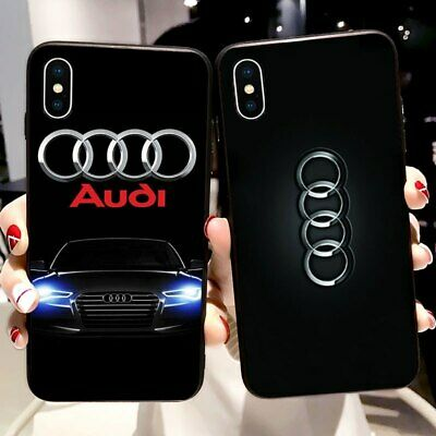 Luxury Brand Car Logo Audi Soft Silicone Case for iPhone X XR XS Max 5 5S 6 6S