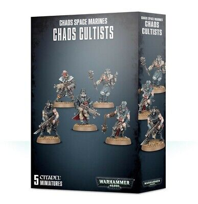 Easy to Build: Chaos Space Marines Chaos Cultists Games Workshop New 99120102094