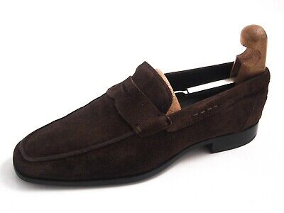 fac745d3a56 Tod s Penny Loafers Moccasins Brown Suede Mens Shoe Size US 8 EU 41  520