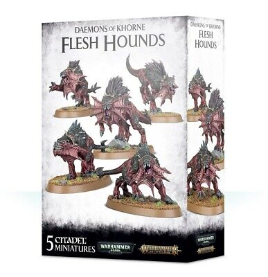 Daemons Of Khorne Flesh Hounds Games Workshop Brand New 99129915050