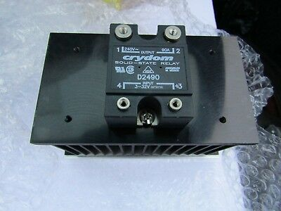 Crydom 55A Solid State Relay DIN Rail Mounting /Heatsink 280v HS103DR A2 7034643