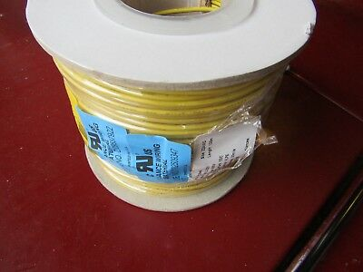 100m x XLPE UL3321 Yellow Hook Up Wire Cable 0.33 mm² CSA 600V 22AWG H7F 8724417