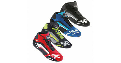 OMP KS-3 Kart Karting Racing Driving Boots Suede Leather IC/813 - ADULT