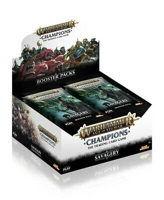 Warhammer Age of Sigmar: Champions Wave 3: Savagery Booster Box Play Fusion New