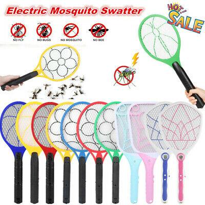 1x Electric Bug Zapper Racket Mosquito Fly Swatter Killer Insects Bat Handheld