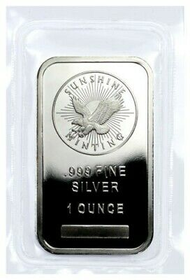 Sunshine Minting Inc. 1 oz .999 Fine Silver Bar USA