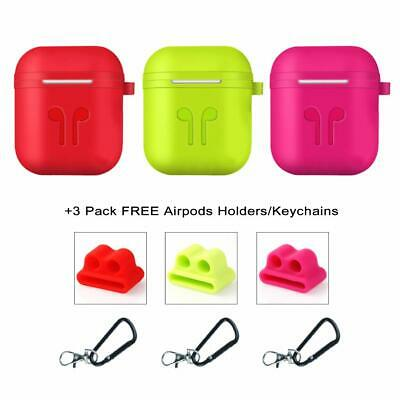 Airpods Case Earpods Case Silicone Waterproof Cover 3 Pack 3 Colours Fashionable