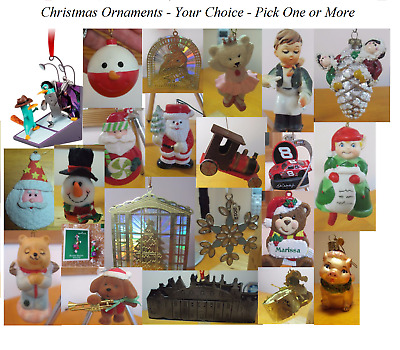 Assorted Christmas Ornaments - Price is Each - Your Pick
