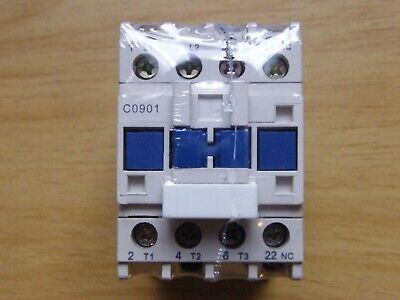 ICC C0901 20 amp 3 pole contactor 24v coil 1 x N/C auxiliary din rail or screw