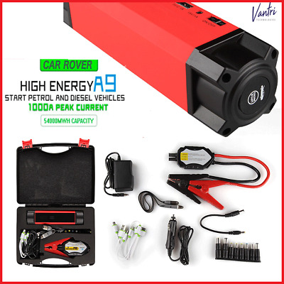 Car Rover A9 54000 mWh  Emergency Power Bank 1000 A Peak Current Jump Starter