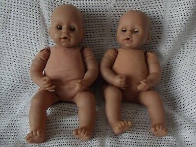 "Two Zapf Creation 18"" Baby Annabell Dolls - Both Cry, Babble & Make Sounds"