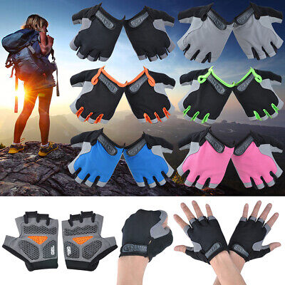 Women And Men 3D Cycling Gel Gloves Outdoor Sports Fingerless Driving Gloves Gym