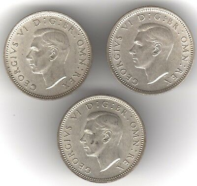 1943,1944 & 1946 George VI Silver Sixpence Coins | Pennies2Pounds