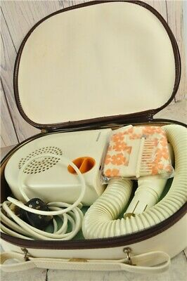 Vintage Ronson Escort 2000 Hairdryer in Case with Accessories and Instructions