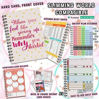 Slimming World Compatible Food Diary Diet Planner Weight Loss Tracker Journal A5