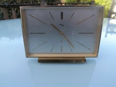 Vintage Imhof Swiss 8 Day Brass Mantel Clock
