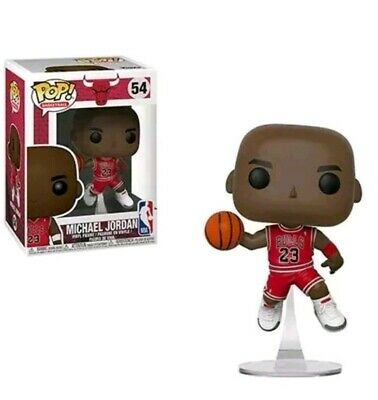 MICHAEL JORDAN - Funko Pop! NBA #54 Chicago Bulls POP Protector! Minor damage