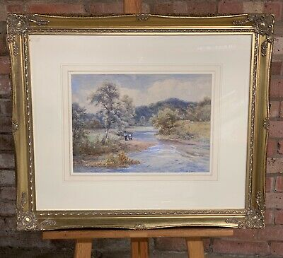 Beautiful 19th Century Watercolour Titled Collecting Water - William Joseph King