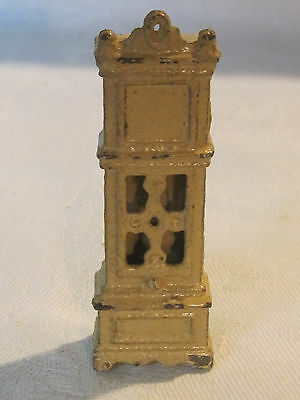Vintage Kilgore cast iron miniature dollhouse grandfather clock
