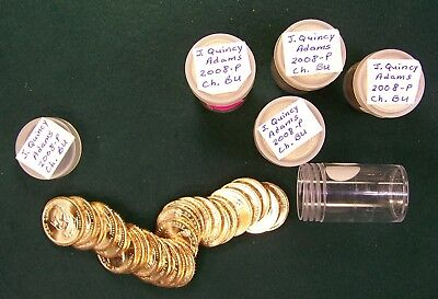 Uncirculated 25-Coin Roll(s) of 2008-P John Quincy Adams Presidential Dollars