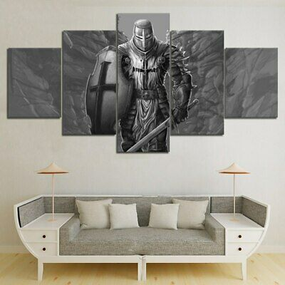 Knight Templar Warrior 5 Piece canvas Wall Art Print Picture Home Decor