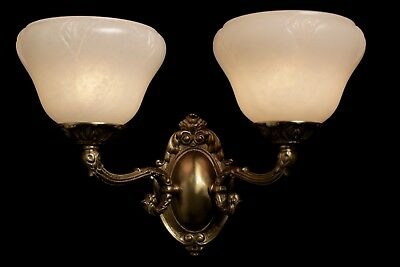 Single  carved alabaster wall light  sconce solid  double arms bronze