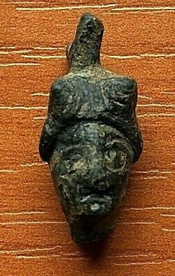 Ancient Roman Bronze Head-to-Face Pendant Circa 100-200 AD Very Rare