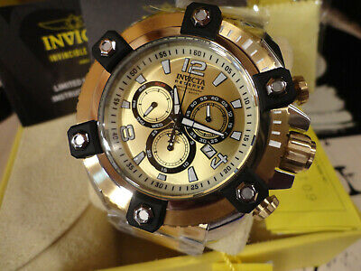 Invicta 26109 Reserve 56mm Gold Tone Octane Swiss Chronograph S/S Bracelet Watch
